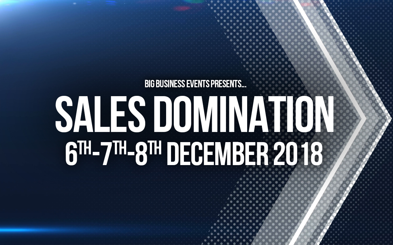 Sales Domination – 3 Day Course SD 6 7 8 De ember
