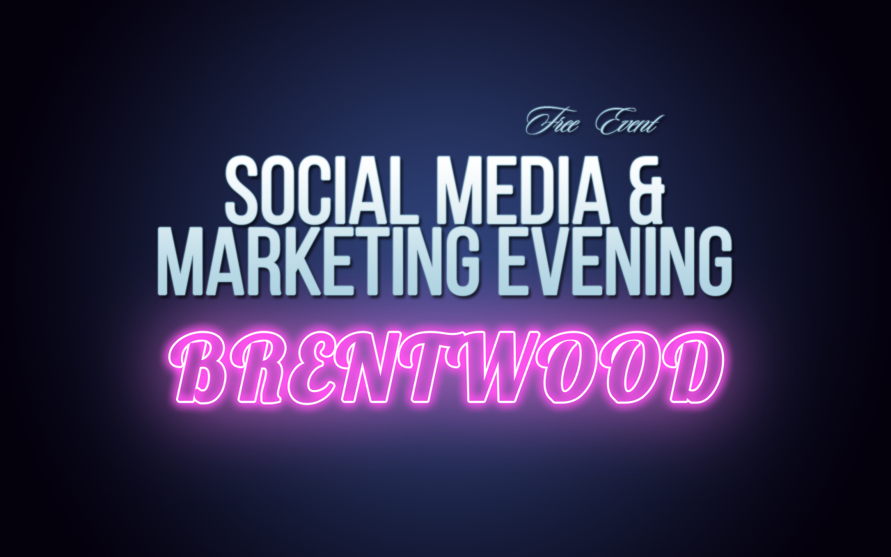 Social Media Mastery  Social Media & Marketing Preview Evening 21-11-18 (Brentwood) Soc Med Marketing Brentwood Preview Pink