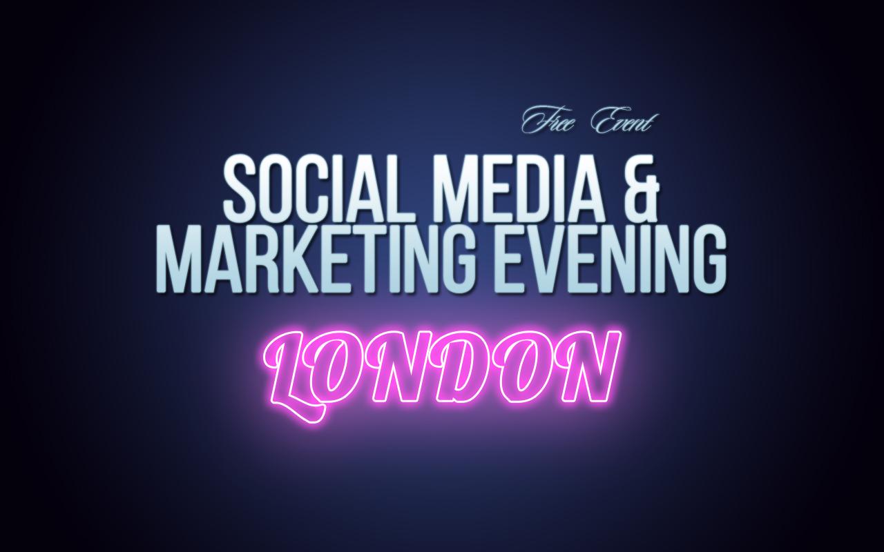 Social Media Mastery  Social Media & Marketing Preview Evening 15-11-18 (London) Soc Med Marketing London Preview Pink 1