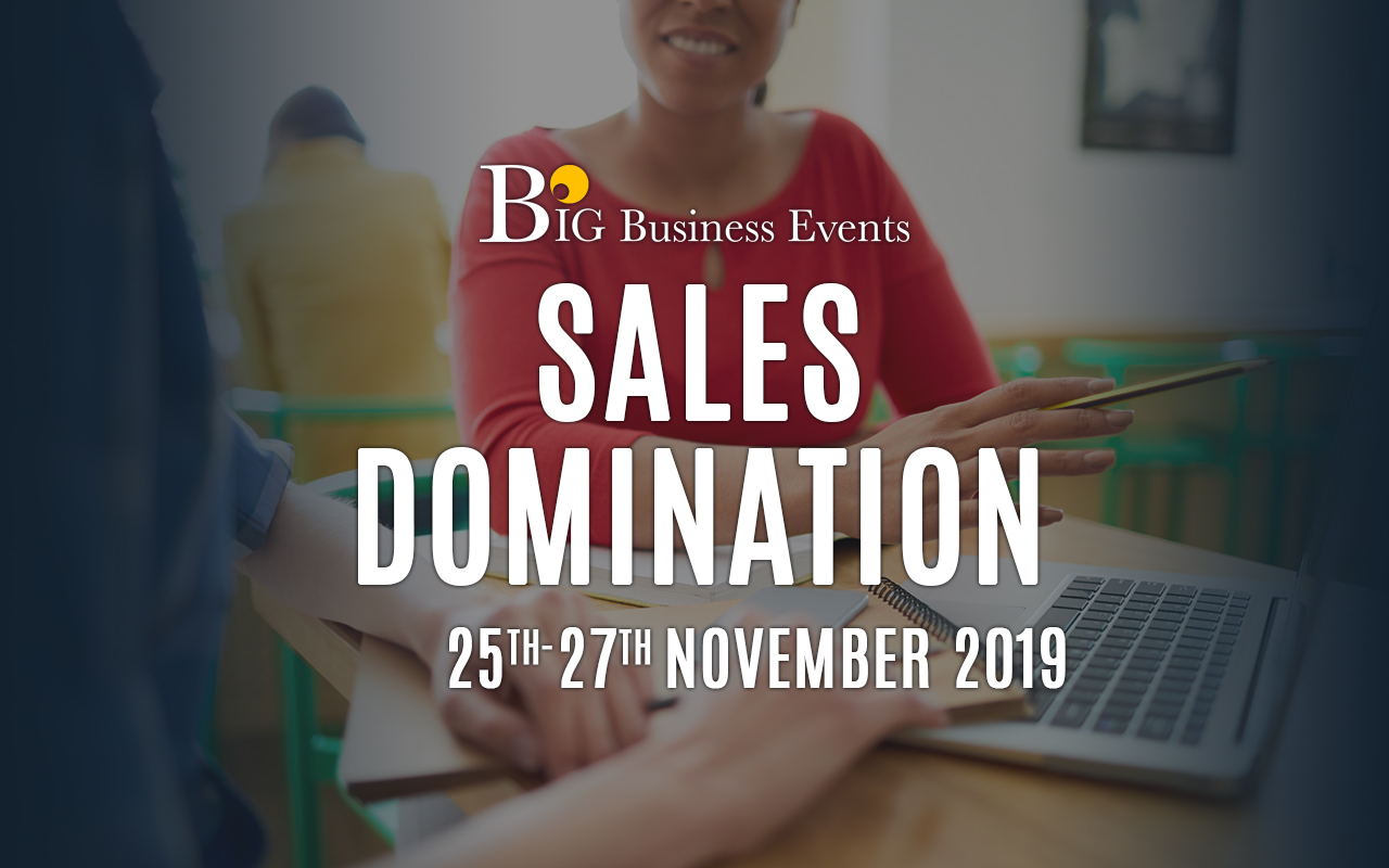 Sales Domination – 3 Day Course Sales Domination 25 27 november  Home Sales Domination 25 27 november